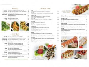 AQUA Sushi Menu