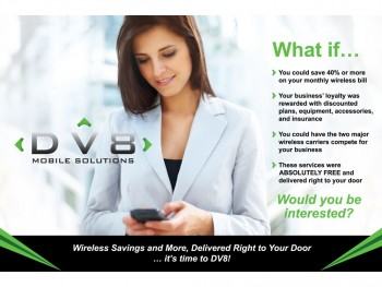 DV8 Mobile Solutions Post Card