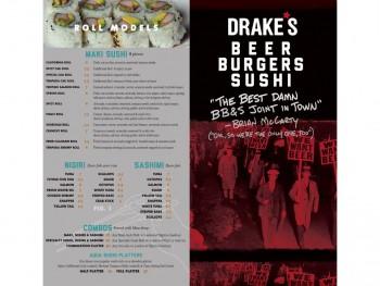 Drake's Menu