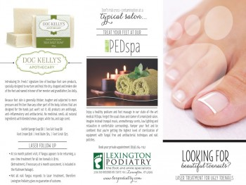 Lexington Podiatry Brochure