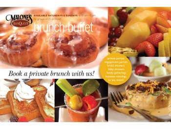 Malone's Brunch Brochure